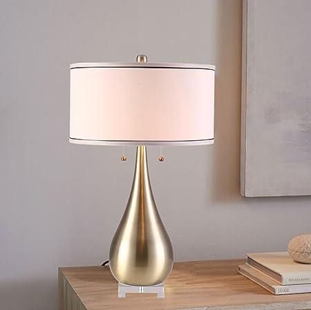 Rventric Lámpara De Mesa De Bronce Moderno Diseño Simple ...