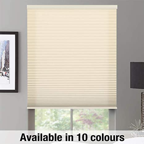 """Inside or Outside Mount Biscuit, 18-24W x 18-36 H Any Size 22-84/"""" W x 18-84/"""" H 10 Colour Choices Soft Glow Select Blinds Canada Custom Cordless Top Down Bottom Up Light Filtering Honeycomb Cellular Shades Made To Order"""