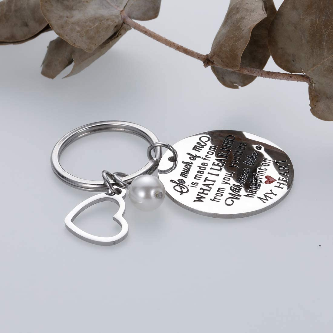 Teacher Appreciation Week Keychain Graduation Gifts For Teachers Mentor Thank You Gift For Mom Dad Godmother Birthday Christmas Thanksgiving Keyring Gifts From Students Son Daughter