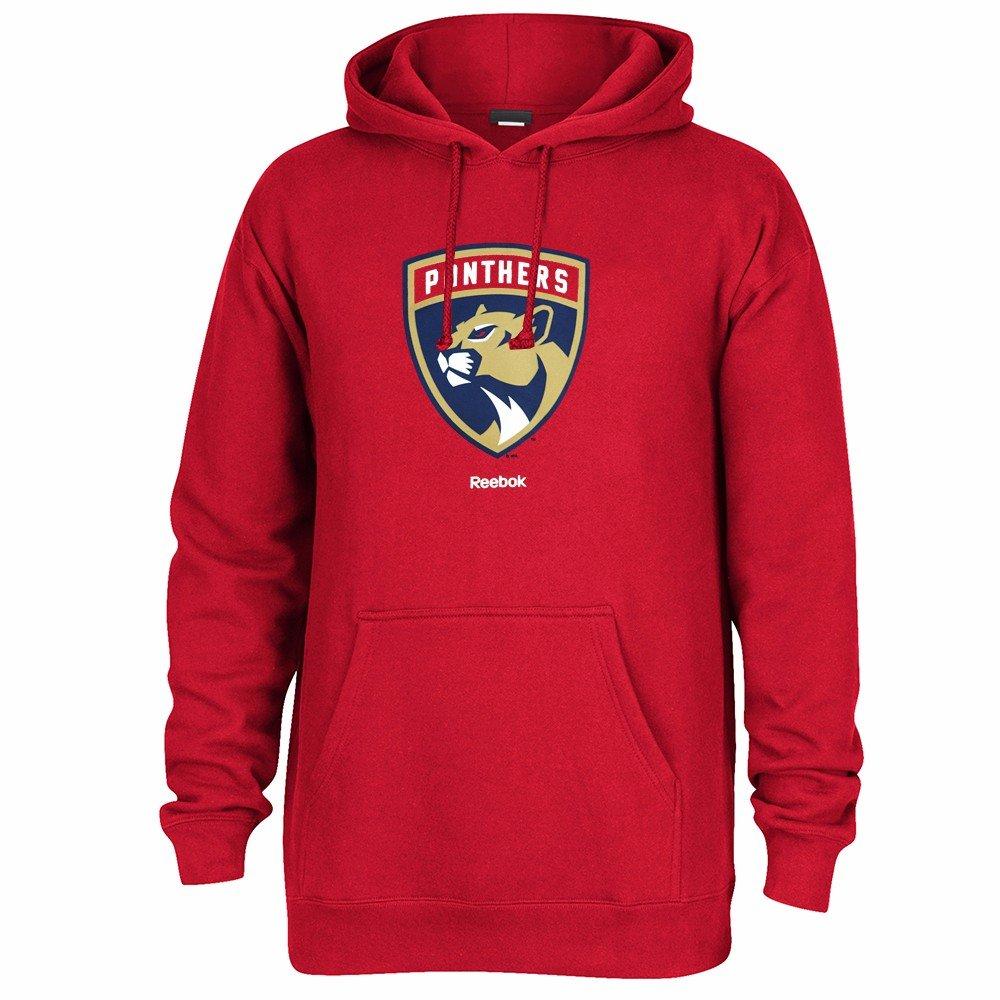 best website dd9c4 ca62e Reebok Florida Panthers NHL Red Team Logo Jersey Crest Pullover Hoodie