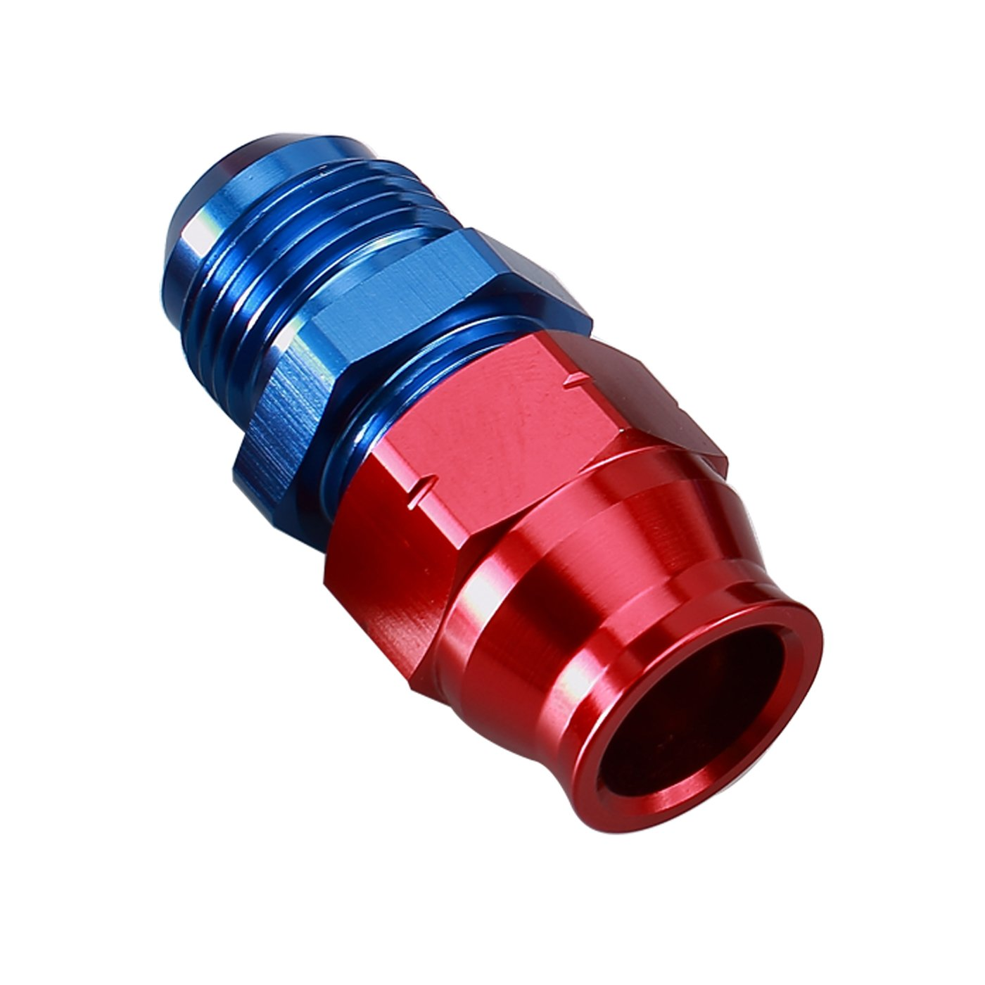 Ano-Tuff Special Purpose Adapter 6AN Male Flare to 5/16 Tubing Hose Fitting red blue Aluminum Anodized 6AN male to 5/16 Tube