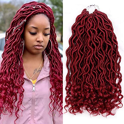 MOBOK 6Pcs/Lot Goddess Locs Faux Locs Crochet Twist Braiding Soft Synthetic Hair Extension (14inch(6-PACKS), 530) ()
