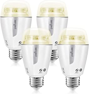 Sengled Smart Light Bulb Compatible with Alexa, Google Assistant and Siri, Soft White Light Bulbs Smart Hub Required, 2700K-6500K Daylight LED Bulb 60W 800LM, Zigbee Technology A19 E26, 4 Pack