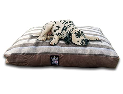 Classic cama perro cama colchón Sripe tela cama perro