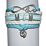 Amazon Price History for:Mom Bracelet, New Mom Jewelry Makes the Perfect New Mom Gift(Blue & Pink Available)