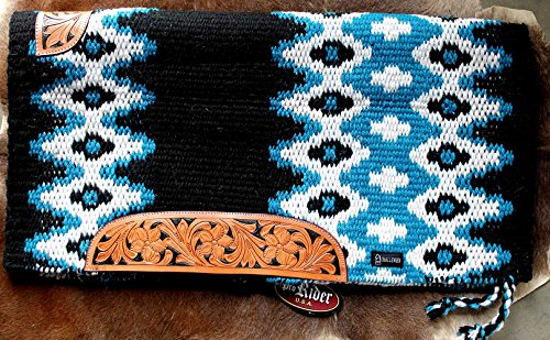 PRORIDER 34×36 Horse Wool Western Show Trail Saddle Blanket Rodeo Pad Turquoise 36291C