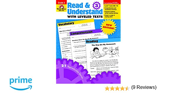 Amazon.com: Read & Understand with Leveled Texts, Grade 3 ...