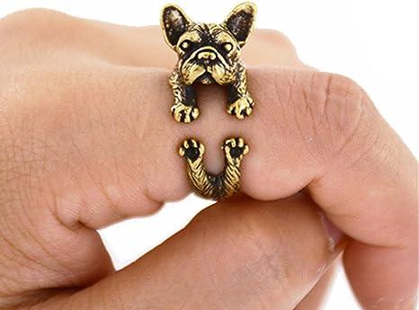ECYC Dimensione DellAnimale del Bulldog Francese Fatta A Mano Animale del Bulldog dellAnnata Regolabile