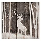 Black Forest Decor Stag Silhouette Wood Wall Art