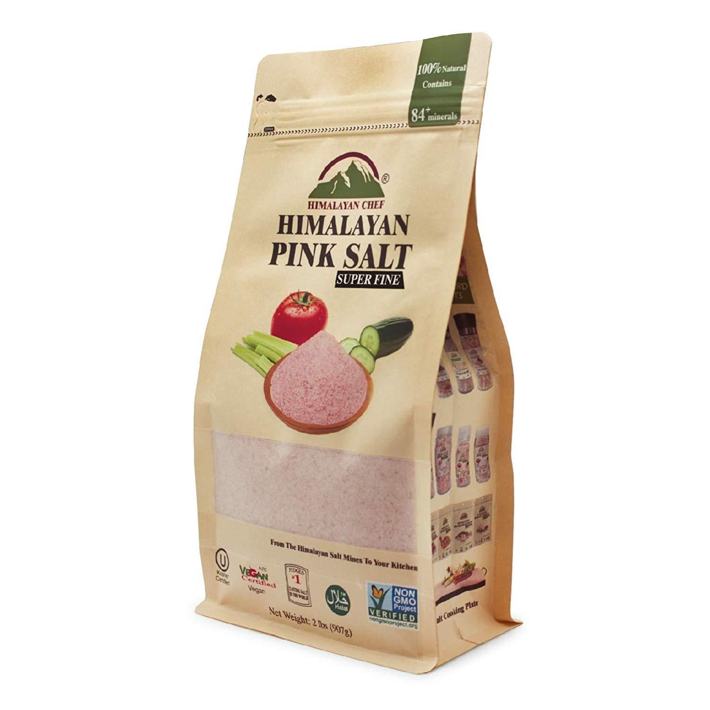 Himalayan Chef 100% Natural Pink Coarse Salt 2 lbs Bag. Ideal for Salt Grinders