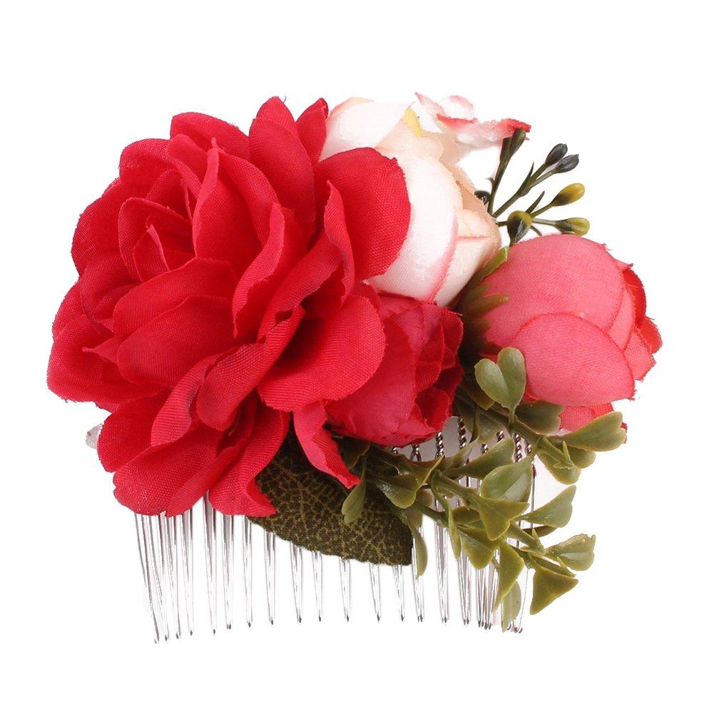 bajo costo precio razonable rendimiento superior Peineta de Pu Ran, diseño con flores artificiales, accesorio ...