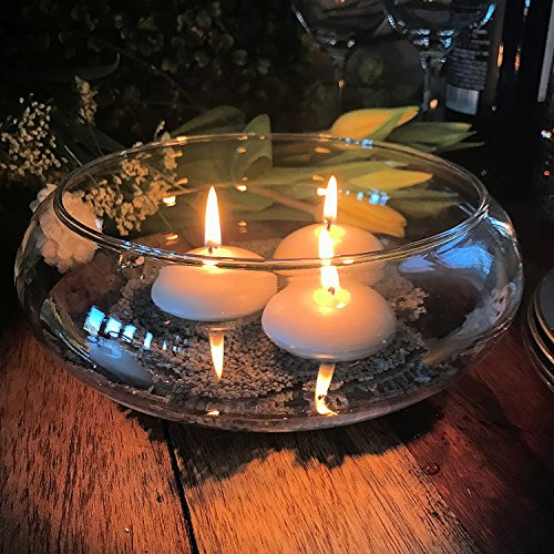 """ing Candle 3 Piece Kit, Table Top Centerpiece, Includes 7 ½"""" Glass Bowl, 3 2 1/4"""" Wax Candles Plus Color Coordinated Decorative Sand, By Whole House Worlds (Nautical Counter Table)"""