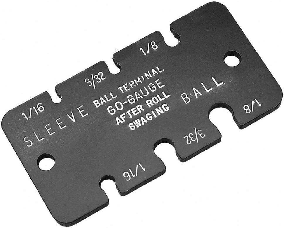 3//32 and 1//8 Measuring Range in. Ball Terminal Gauge 1//16