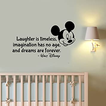 Amazoncom Laughter Is Timeless Wall Decal Walt Disney Quote