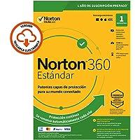 Norton 360 Estándar 2020 - Antivirus software para 1 Dispositivo con renovación automática, 1 año, Secure VPN y Gestor de contraseñas, PC/Mac/tablet/smartphone, Código de activación enviado por email
