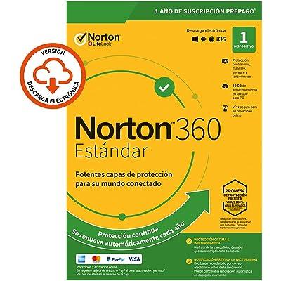 Norton 360 Estándar 2020 - Antivirus software para 1 Dispositivo y 1 año de suscripción con renovación automática, Secure VPN y Gestor de contraseñas, para PC, Mac tableta o smartphone