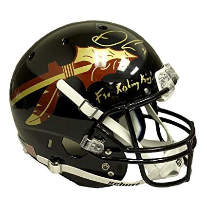 3cdd15a0424ef Image Unavailable. Image not available for. Color  Dalvin Cook Florida  State Seminoles Autographed Signed Full Size Schutt Replica Black ...