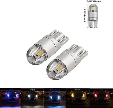 2x Blue T10 Side Wedge 9 SMD 1210 LED Light bulbs W5W 2825 158 192 168 194 147