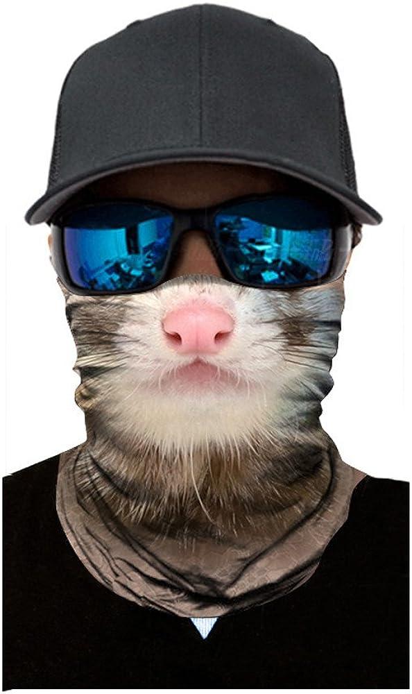 Dust Multifunctional Headwear Seamless Bandana Breathable Sports Fan Masks Headband Neck Gaiter for Outdoor Riding