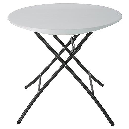 Lifetime mesa redonda plegable (con 4 sillas plegables.: Amazon.es ...
