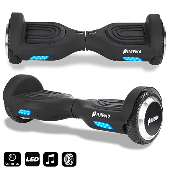 Amazon.com: Bluetooth Hoverboard con luz LED, tabla de ...