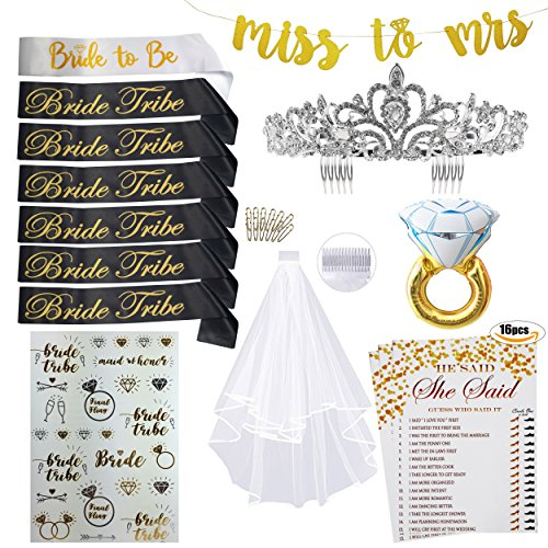 Bachelorette Party Bride to Be Accessories Favors Kit