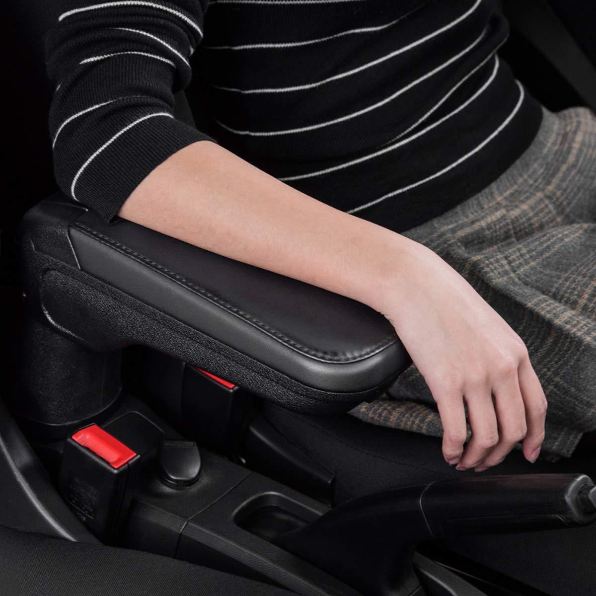 DIYUCAR per Benz Smart 453 Fortwo Forfour 2015 2019 auto interno bracciolo in pelle Organize Box vassoio con portabicchieri Locker