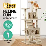 Cat Scratching Tree Post Scratcher Pole Condo Gym Furniture Tall 180CM Beige