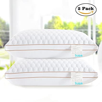 beegod Bed Pillows 2 Pack For Better Sleeping Super Soft \u0026 Comfortable Antibacterial \u0026 Anti