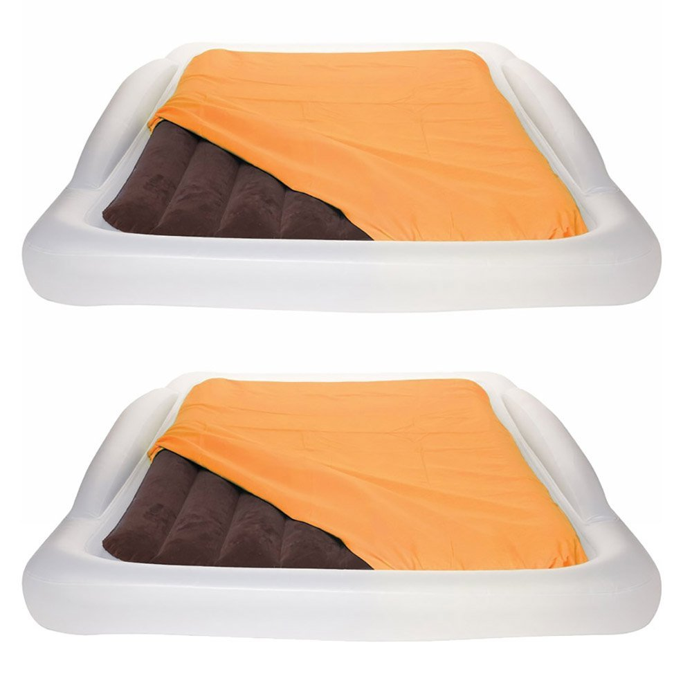Shrunks Inflatable Twin Air Mattresses Airbeds w/ Security Rails, Twin (2 Pack)