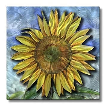 Amazon.com: sunflower metal wall art modern home decor wall ...