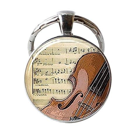 Llavero de violín, joyería de instrumentos musicales ...