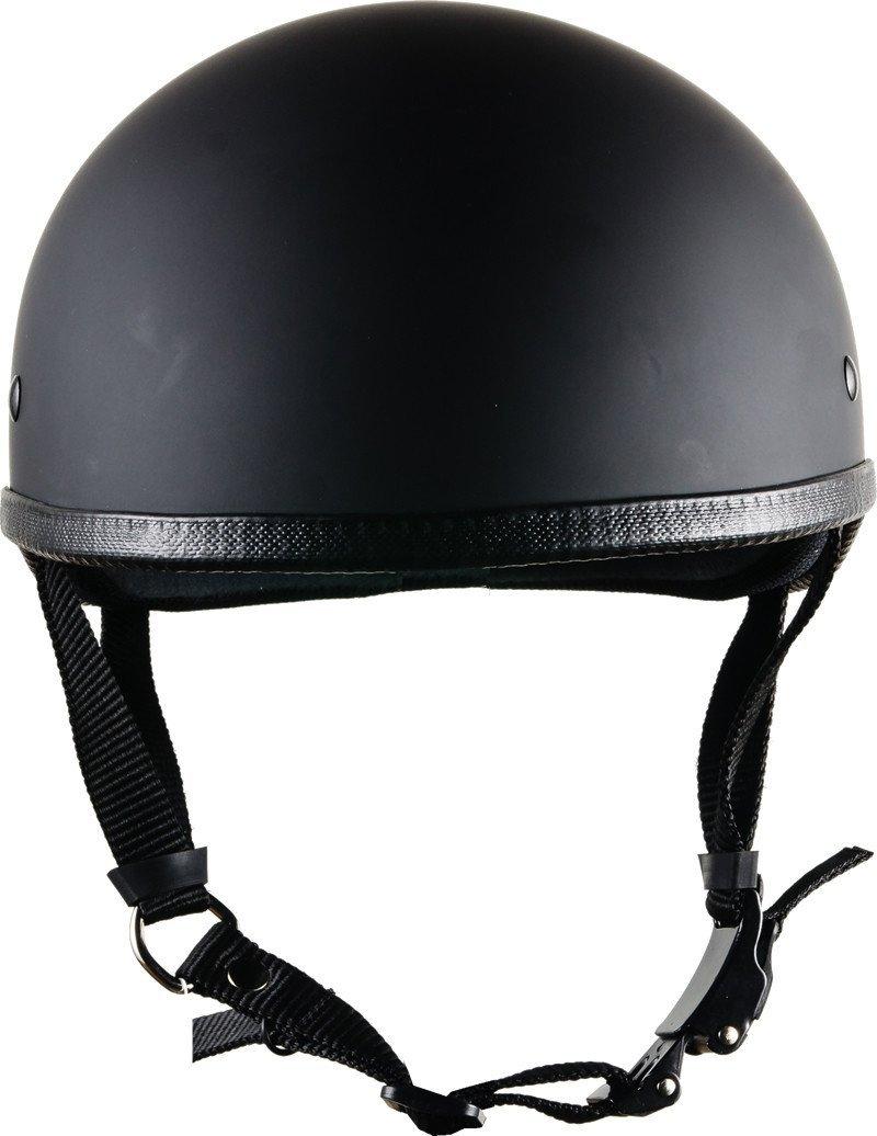 Bikerhelmets.com- SOA InspiredMotorcycle Helmet -DOT Approved Ultra Low Profile Beanie - Flat Black No Peak - X-Small