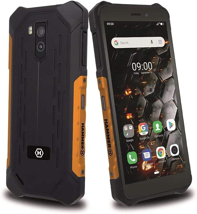 Hammer Iron 3 Lte 5 5 Ips Outdoor Handy 4g Ip68 Robustes Militär Smartphone Wasserdicht Stoßfest Staubdicht Mega Akku 4400mah Nfc Octa Core 2ghz Android 9 Dual Sim 32gb 3gb Dual Sim Orange Elektronik