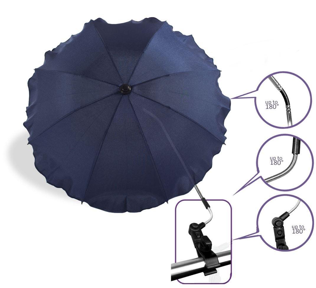 Baby Pram Pushchair Sun Parasol / Universal Umbrella Shade Canopy (Navy Blue) Baby Comfort