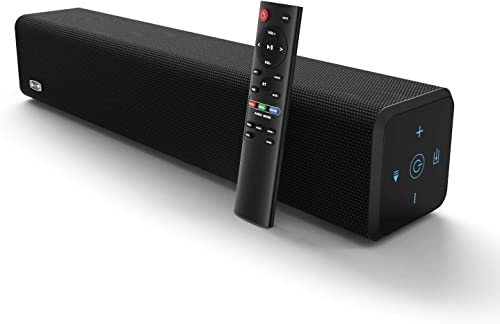 BESTISAN VC-SE01 Sound Bar with Bluetooth 5.0 and Wired Connections, Home Theater Audio Sound Bars for TV 20 Inch, 50 Watt, 3 Modes, Bass Adjustable, Wall Mountable, Deep Bass 2019 New Model