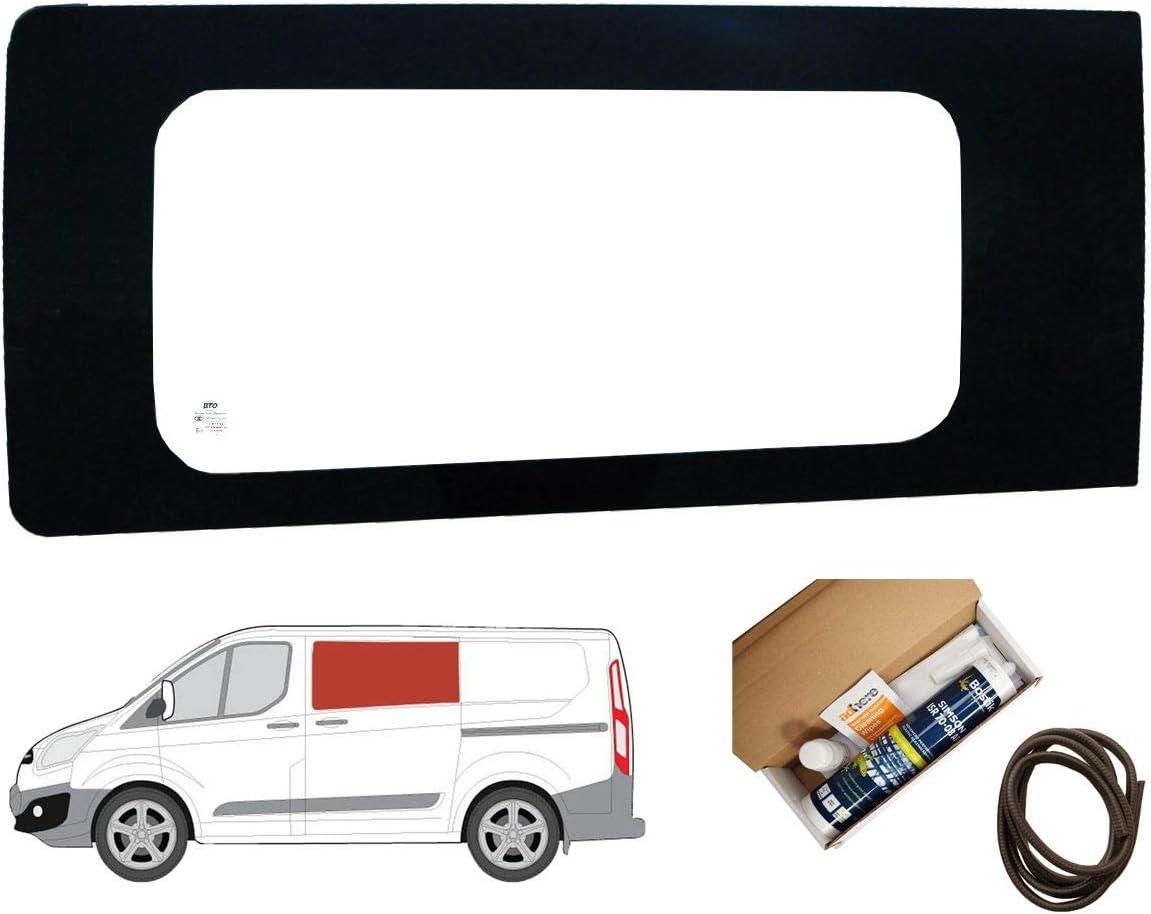 Mano izquierda ventana de fijo transparente para puerta corredera kit Ford Transit Custom: Amazon.es: Coche y moto