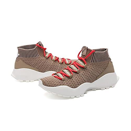 ... 2018 Zapatos Ligeros de la Línea de Punto Transpirable Zapatos Casuales de los Hombres de la Parte Superior Gruesa de la Parte Superior Calcetines ...