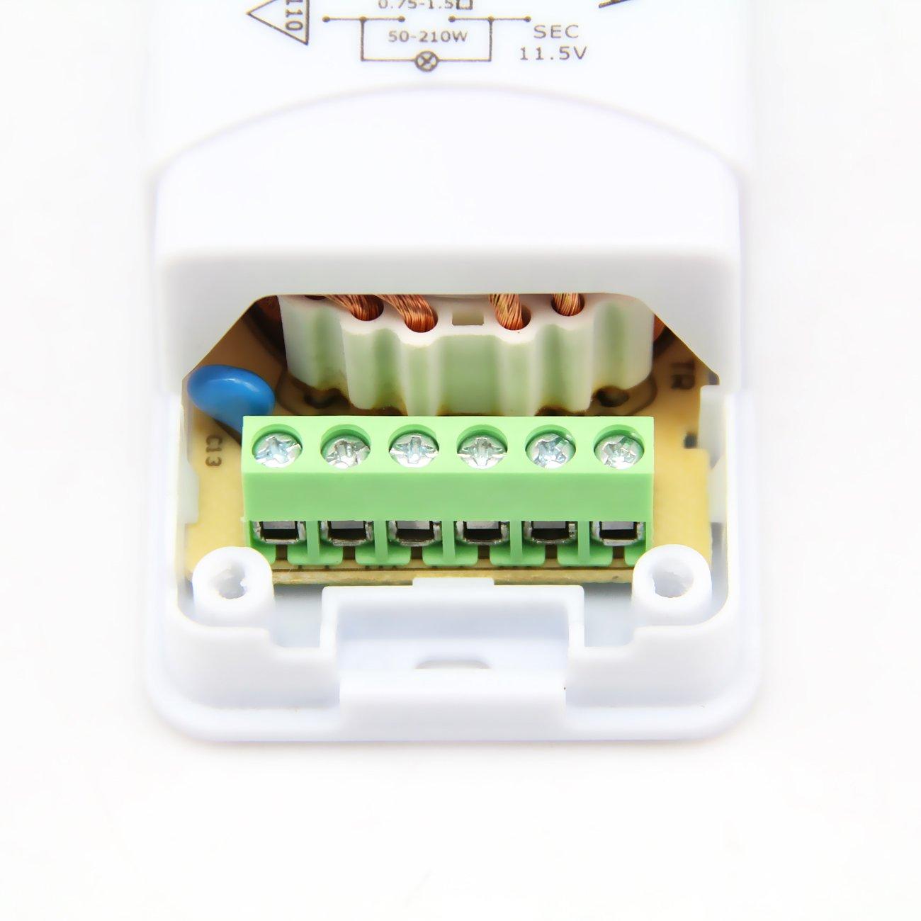 Eagle Rise Transformador electr/ónico para hal/ógenos 230 a 12 V CA, 50-210 W