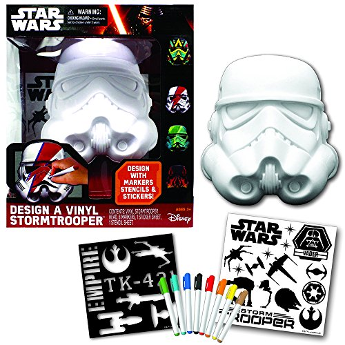 [Star Wars Deluxe Design a Vinyl Storm Trooper Play Set] (Stormtrooper Disney)