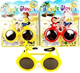 Novelty Party Prop Funny Bicycle Shaped Sunglass Kids Glasses Hallowen Colourful (B)