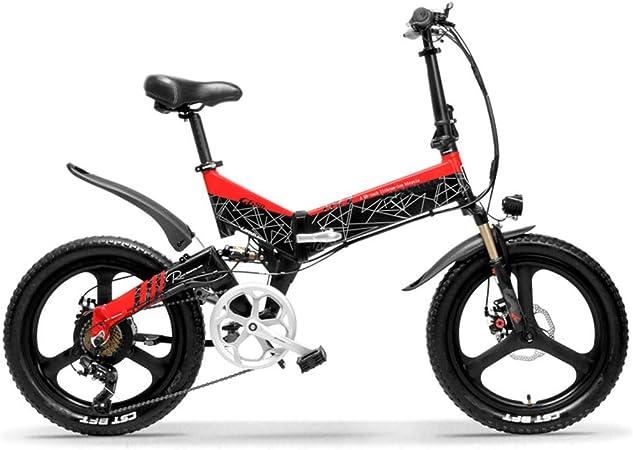 LPsweet - Bicicleta eléctrica Plegable, 20 Pulgadas, Velocidad ...