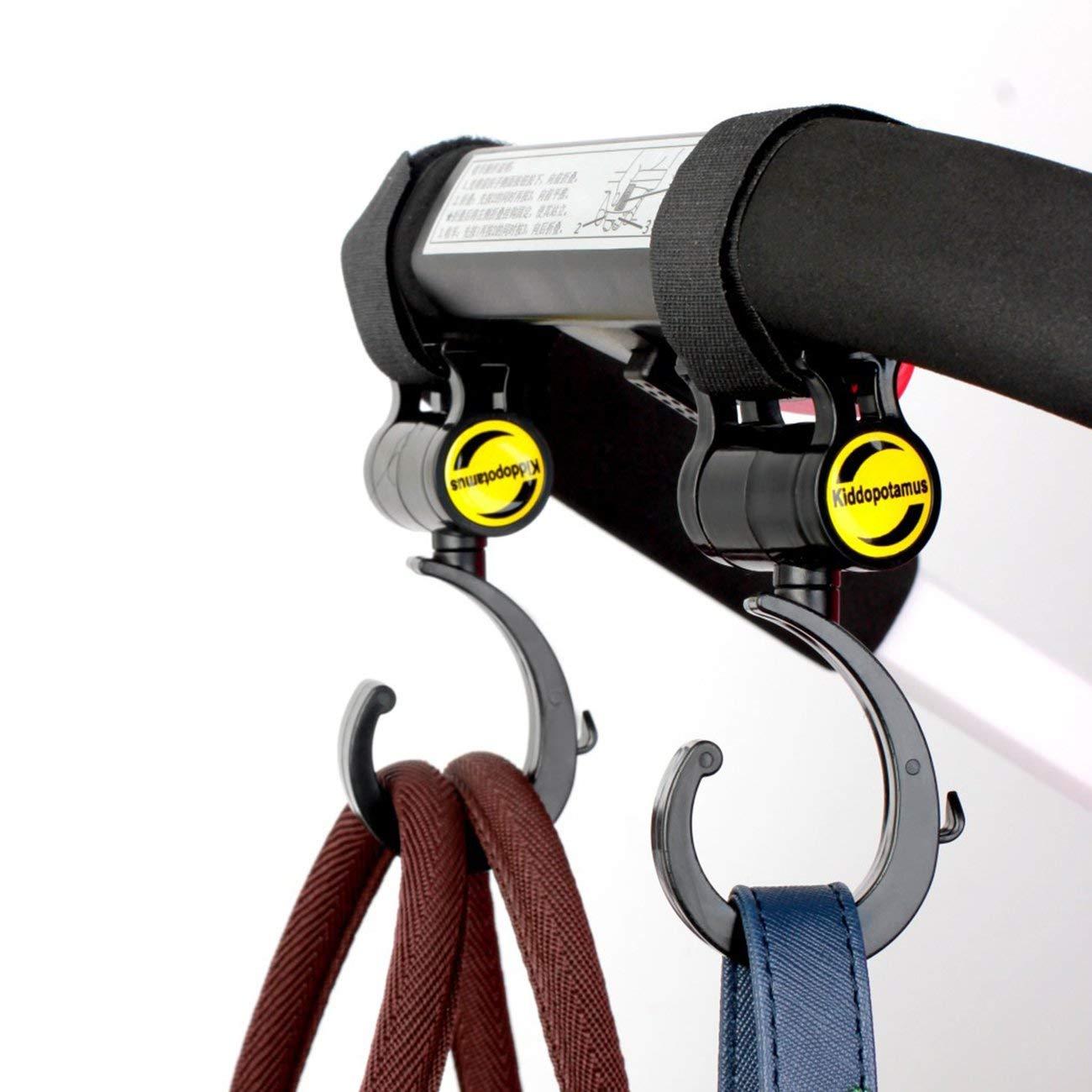 Schwarz JBP-X 2 st/ücke Kinderwagen Kinderwagen Kinderwagen Buggy Aufh/änger Trolley Karabiner Clip Drehbare Haken Kinderwagen H/ängen Tr/äger Halter