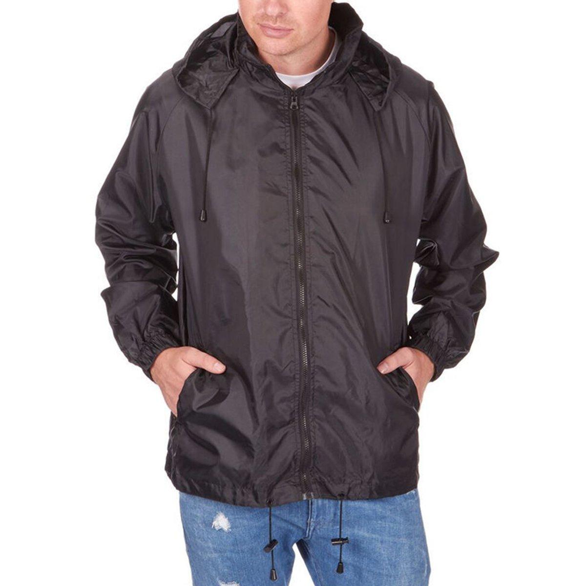LUI SUI Men Women Reflective Hooded Raincoat Suits Windproof Waterproof Camping Hiking Cycling Jacket//Trouser Suits Rainwear