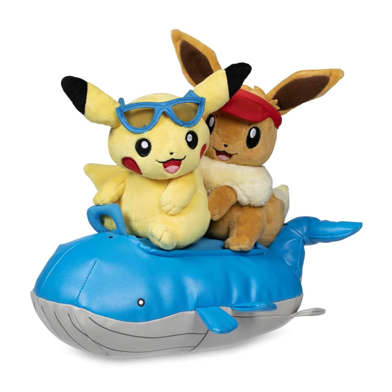 Pokemon Plush Seasonal Celebrations - Pikachu & Eevee Summer Days by Pokemon