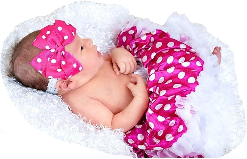 Halloween Dress Hot Pink White Polka Dot Newborn Baby Skirt Girl Clothing Nb-12m