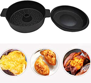 CuiXiang Roasted Sweet Potato Pan, Nonstick, Round, 22cm in Diameter, Suitable for Gas Stoves, Electric Furnaces, General Purpose Stoves