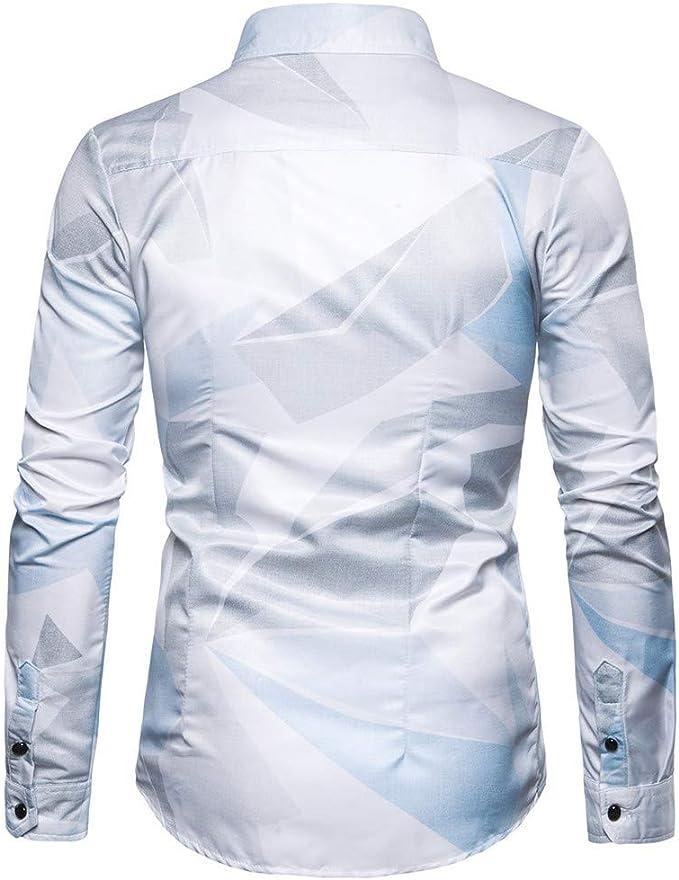 Overdose Camisas Hombre Slim fit Ralph Moda Hombre Casual Impreso ...