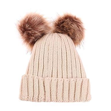 Herbst und Winter Kinder doppelt warme Hut Junge Mädchen gestrickte Wollmütze