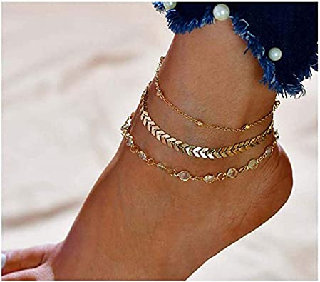 1 PC Pulsera de Tobillo Cadena de Moda de Mujer Fino Tobillera Pie Joyería Beach Jewelry #